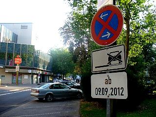 """Rennstrecke """"Rund um das Stadttheater"""" in Gießen"""