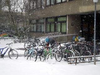 Fahrradstellplatz in Gießen