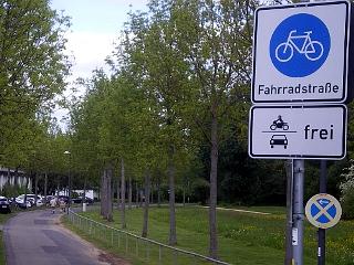 Fahrradstraße in Fulda