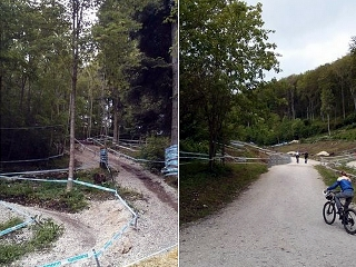 Weltcup-Strecke in Albstadt
