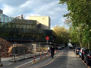 Baustelle in der Gießener Johannesstraße