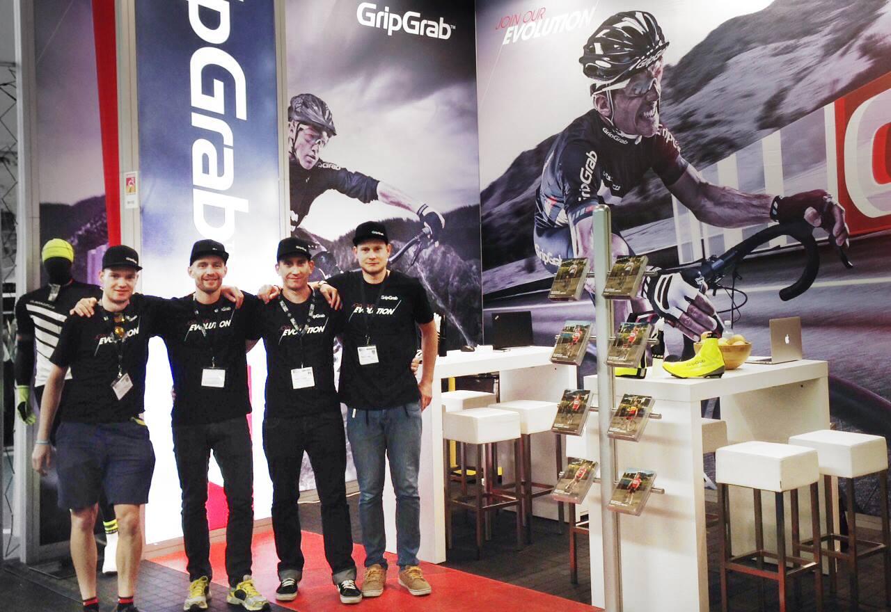 Messestand von GripGrab Sports Gloves
