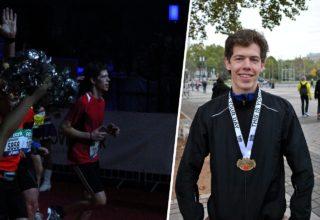 Der stellvertretende Redaktionsleiter Thomas Stapel beim Frankfurt Marathon