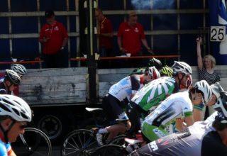 Jury bei einem Radrennen