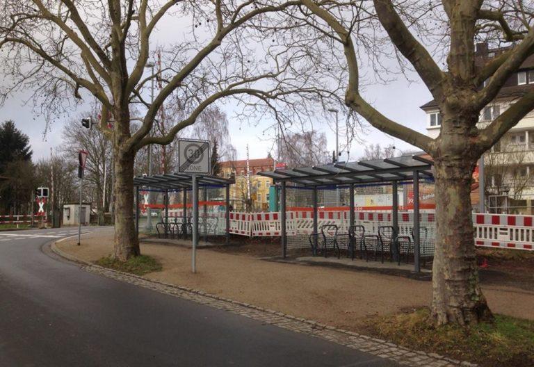 Fahrradstellplatz in der Licher Straße in Gießen