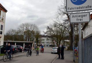 """Straße """"Auf der Weide"""" in Marburg"""