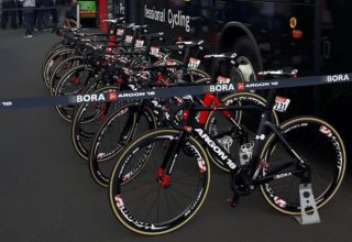 Team Bora-Argon18 bei der Tour de France