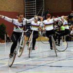 Meisterliche Einrad- und Kunstradsport-Kür