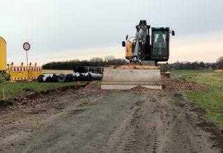 Bauarbeiten auf dem Radweg R7 bei Großen-Buseck