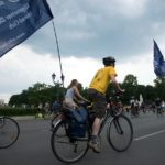 Protest gegen schlechte Fahrrad-Bedingungen