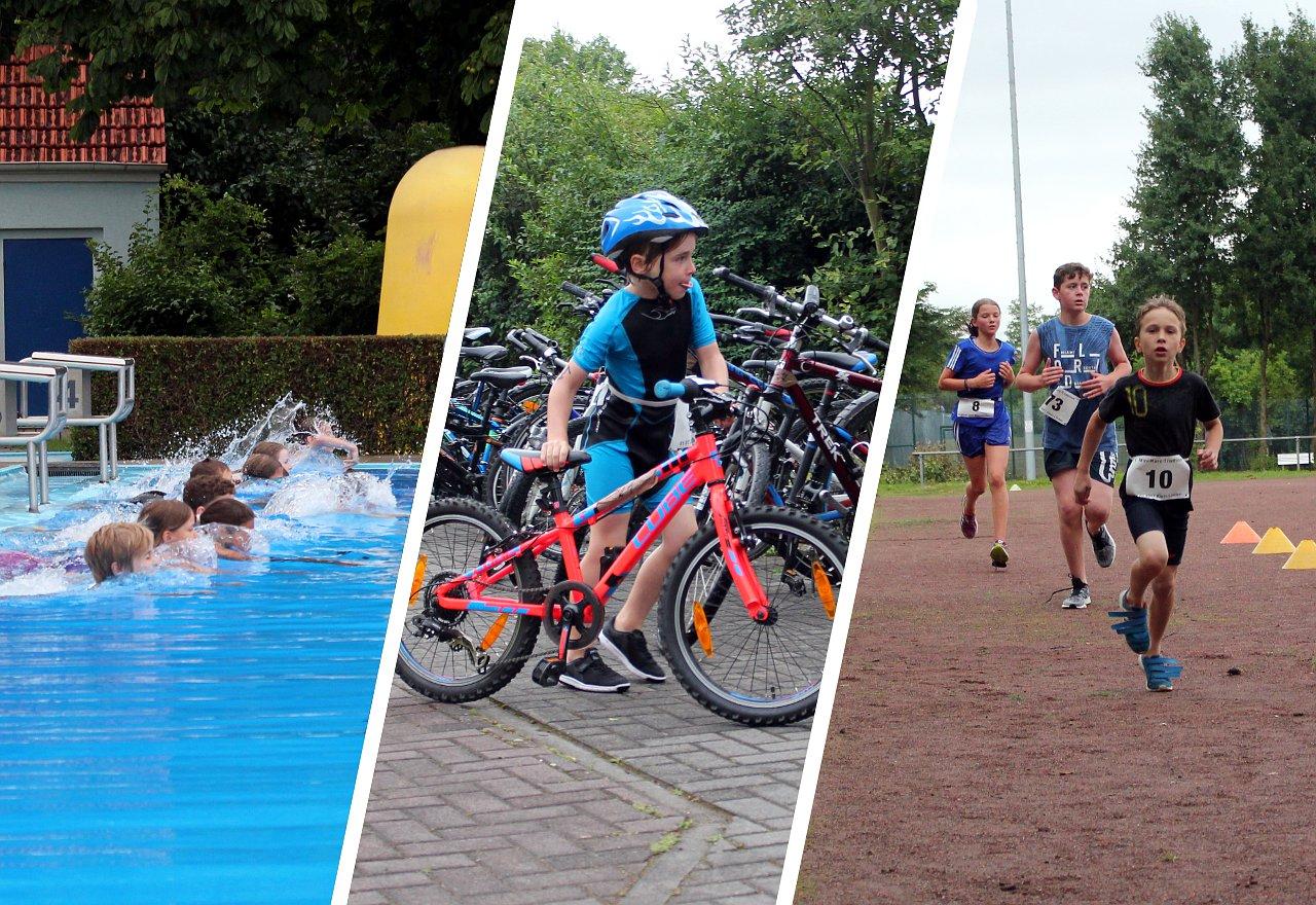 Mini-Triathlon in Kleinlinden. Foto: Stephan Dietel