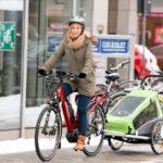 Auch im Winter per Fahrrad zum Kindergarten